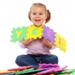 "Little girl put together ""Yes"" — Stock Photo #4548467"