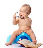 ребенка на горшок — Стоковое фото