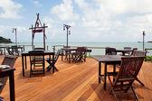 Empty beach cafe — Stock Photo