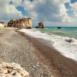 Petra tou romiou beach - Stock Photo