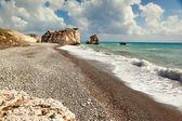 Petra tou romiou beach — Stock fotografie