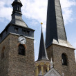 Stock Photo: Church tower and Town Hall in Burg