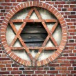 Star of David in barn wall — Stock Photo