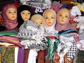 Dolls and shawls — Stock Photo