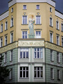 Mural Berlin apartment house — Stock Photo