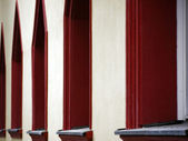 Window with red edging — Stock Photo