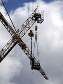 Worker on crane — Stock Photo