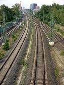 Berlin-rails and Potsdamer Platz — Stock Photo