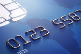 Close-up credit card (3d render) — Stock Photo