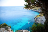 Beautiful view of coastline in Zakynthos — Stock Photo