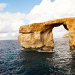 Natural rock arch Azure Window, Gozo — Stock Photo #4669483