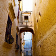 Narrow street of Mdina, Malta — Stock Photo