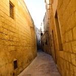 Narrow street of Mdina, Malta — Stock Photo #4669498