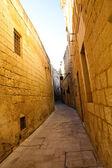 Narrow street of Mdina, Malta — Stock Photo