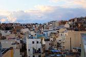 Zonsondergang in sliema, malta — Stockfoto