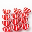 Red Valentine hearts - Stock Photo