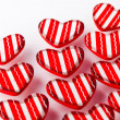 Red Valentine hearts — Stockfoto