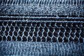 Winter tyre track — Stock Photo