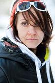 Portret van een vrouw trendy winter — Stockfoto