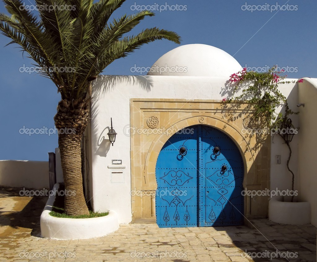 View of Sidi bu Said famouse historical Tunisian city — Stock Photo #4179990