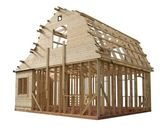 Skeleton of a wooden house — Stock Photo