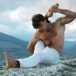 Hathayoga: eka-pada-shirshasana - Stock Photo