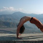 Yoga in Himalayas — Stock Photo