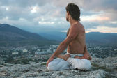 Hatha-yoga: padmasana #2 — Stock Photo