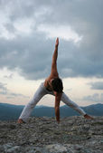 Hatha-yoga — Stock Photo