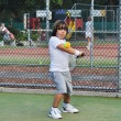 Young boy play tennis — Stock Photo
