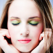 Stock Photo: Vivid make up