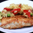 Stockfoto: Chicken breast juicy fried