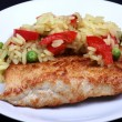 Foto de Stock  : Chicken breast juicy fried