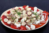 Tomato and mozzarella salad — Stock Photo