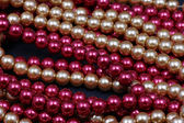 Glass beads pulled — Stock Photo