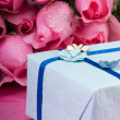 Romantic gift with roses — Stock Photo #4233751