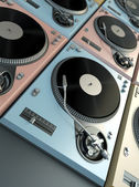 Turntables background — Stock Photo