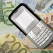 Cellphone Mobile Phone And Money — Stock Photo