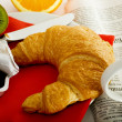 Croissant Breakfast — Stock Photo #4464781