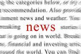 Breaking News in a Newspaper Magazine — Stock Photo