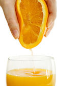 Tall Glass Of Orange Juice for Breakfast — Stock Photo