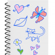 Children Kids Girl Notebook — Stockfoto