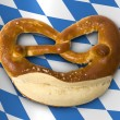 Fresh Bavarian pretzel for breakfast - Stock fotografie