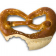 Fresh Bavarian pretzel for breakfast — Stock Photo