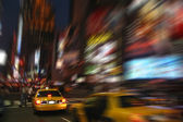 New York Cab Taxi at Times Square — Stock Photo
