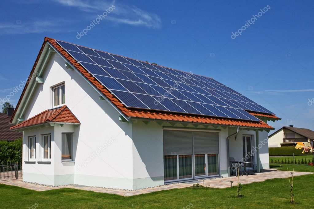 Solar Panel alternative energy on the roof — Stock Photo #4580443