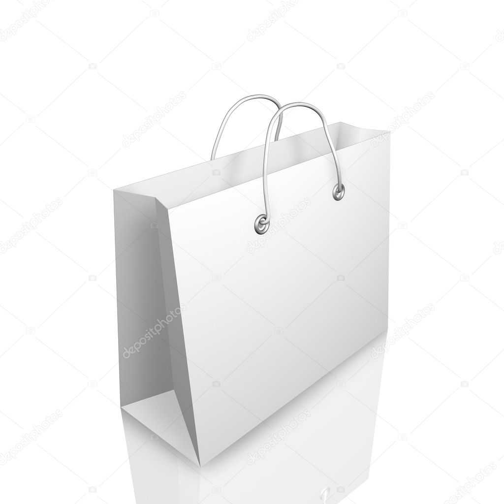 3d Shopping Bag Illustraion Isolated on White Background — Stock Photo #4616633