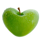 Apple With Heart — Stock Photo