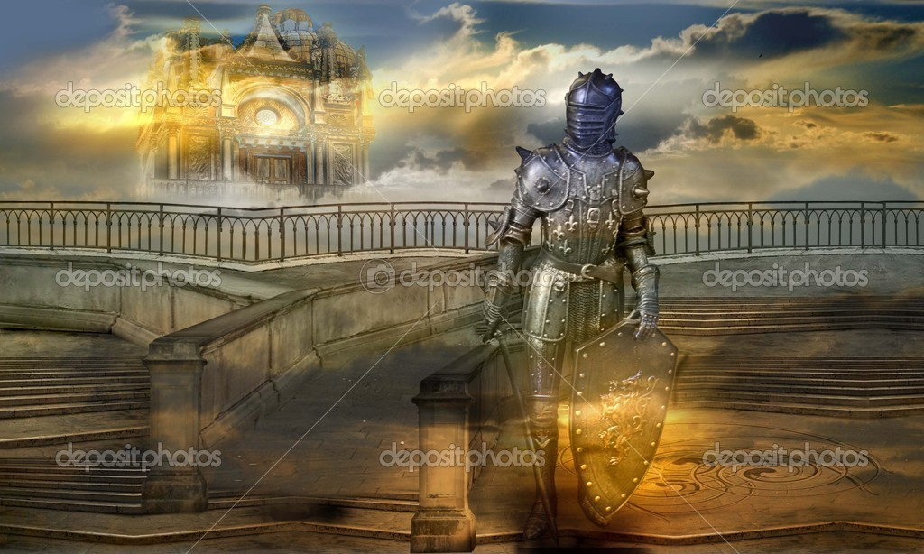The knight of aerial castle — Stock Photo #5349802