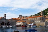 Inner harbor city of Dubrovnik, Croatia — Stock Photo